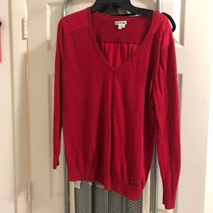 Lacoste Red Top, Size 46
